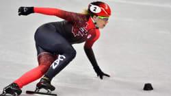 Kim Boutin et Marianne St Gelais survolent la glace, les Sud Coréennes