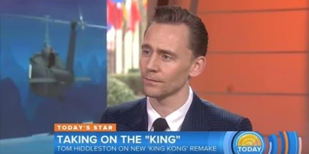 Oooooh if looks could kill: Tom Hiddleston
