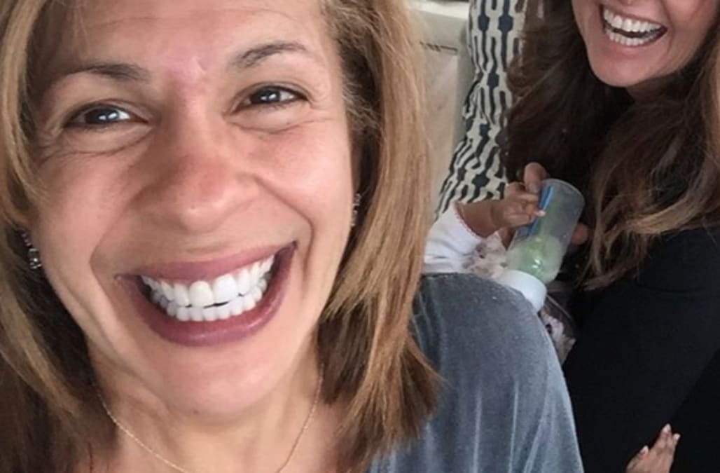 Hoda Kotb S Daughter Meets Another Today Show Colleague Who She Called The Baby Whisperer