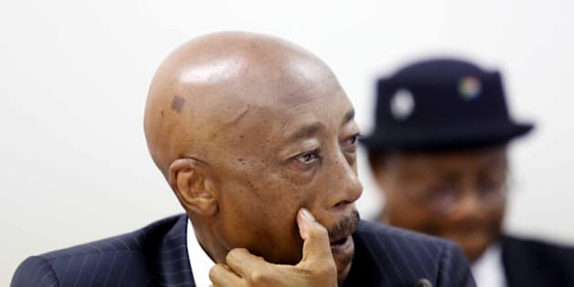 Tom Moyane during his appearance before Parliament's finance committee on November 28, 2017, in Cape Town, South Africa.