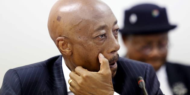 Tom Moyane during his appearance before Parliament's finance committee on November 28 2017 in Cape Town.