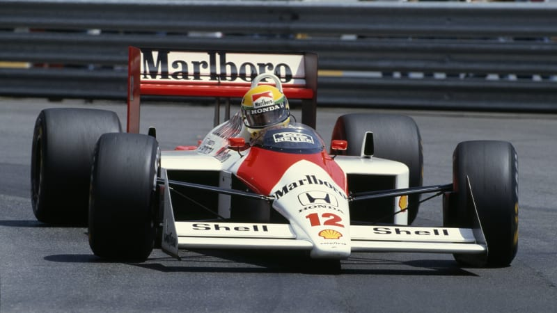 brazilian-formula-one-driver-ayrton-senna-of-the-mclarenhonda-racing-picture-id622342562