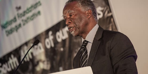 Former South African president Thabo Mbeki speaks during the National Foundations Dialogue initiative on May 5, 2017 in Johannesburg, South Africa.