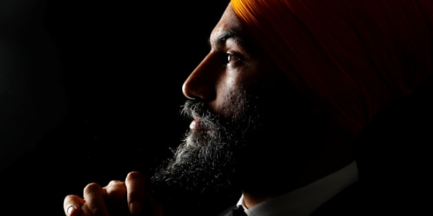 Federal NDP Leader and motivational quote generator Jagmeet Singh poses in Brampton, Ont. on July 1, 2017.