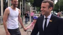 Macron se balade à Hambourg: