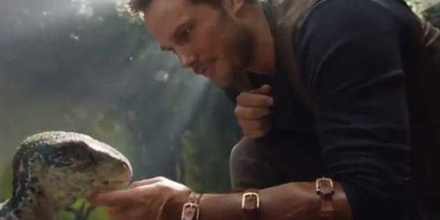 Chris Pratt et un bébé dino dans le teaser !