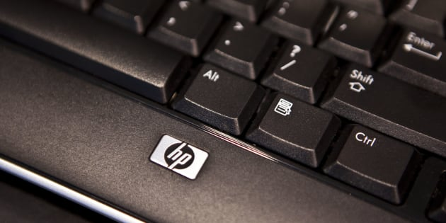 A Hewlett-Packard (HP) notebook laptop computer keyboard sits on display in a store in New York City, on Aug. 9, 2010.