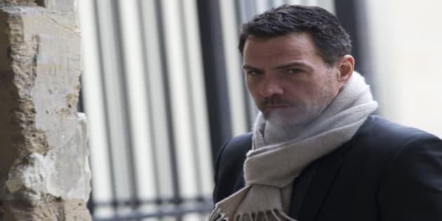 Jérôme Kerviel sort de la cour d'appel de Versailles, le 29 janvier 2016. / AFP PHOTO / KENZO TRIBOUILLARD
