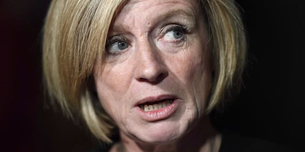 Alberta Premier Rachel Notley speaks to reporters following a Council of the Federation meeting in Ottawa on Tuesday, Oct. 3, 2017.
