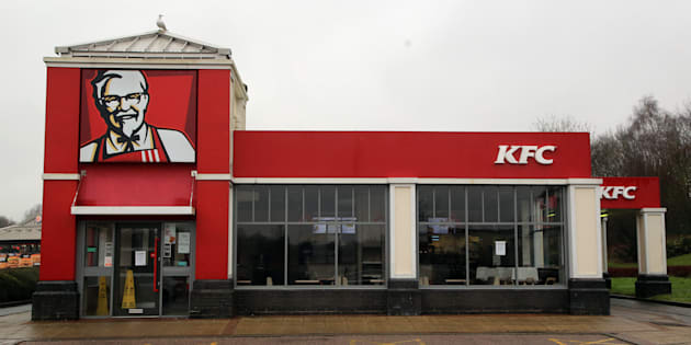 A closed KFC restaurant in Clapham, south London. The fast food outlet has been forced to close a raft of stores after a new delivery contract with DHL resulted in chicken shortages across the country.
