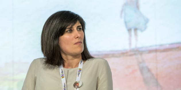 Chiara Appendino, mayor of Turin speaks at conference about the future of italian school during First day at the Book Fair, the international book's fair, held in Turin, Italy on 18 May 2017. (Photo by Mauro Ujetto/NurPhoto via Getty Images)
