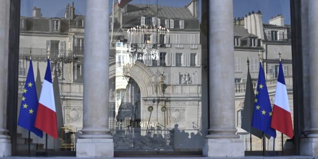 Le Palais de l'Elysée à Paris, photographié le 15 février 2017.
