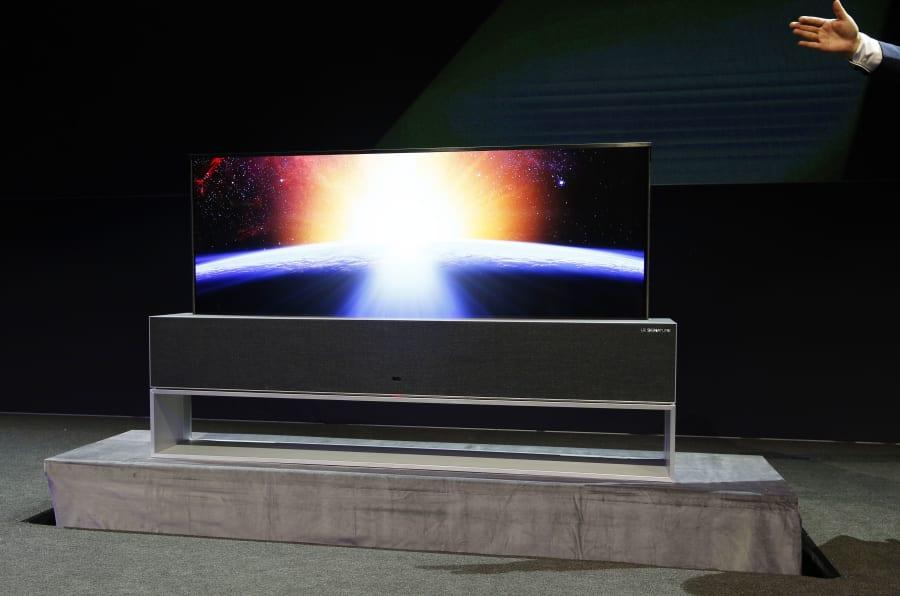 A TV R LG Signature OLED foi apresentada nesta segunda-feira antes do início da CES 2019.