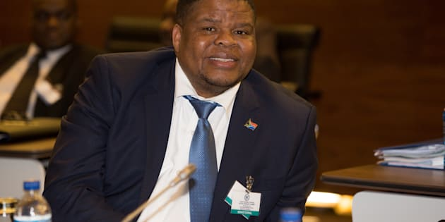 PRETORIA, SOUTH AFRICA � JULY 3: South African Minister of  State Security David Mahlobo at the SADC Double Troika summit on Lesotho on July 3, 2015 in Pretoria, South Africa. The summit is expected to find a solution to Lesotho�s political crisis. (Photo by Gallo Images / Sunday Times / Simphiwe Nkwali)