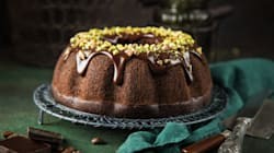 Watch: Molten Peanut Butter Chocolate Bundt Cake