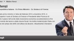 Renzi si promuove come