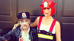 Johnny et Laeticia Hallyday viennent éteindre le feu pour