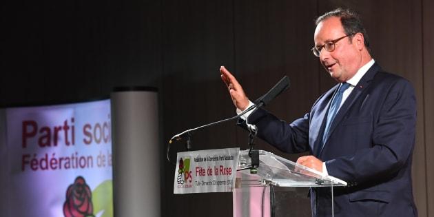François Hollande à la Fête de la rose Tulle le 23 septembre 2018.