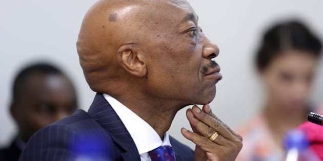 CAPE TOWN, SOUTH AFRICA  NOVEMBER 28: (SOUTH AFRICA OUT) South African Revenue Services (SARS) commissioner Tom Moyane during his appearance before Parliaments finance committee on November 28, 2017 in Cape Town, South Africa. Moyane appeared before the committee to present the revenue service's annual report and to field questions about the suspension, investigation and reinstatement of Jonas Makwakwa. (Photo by Gallo Images / The Times / Esa Alexander)