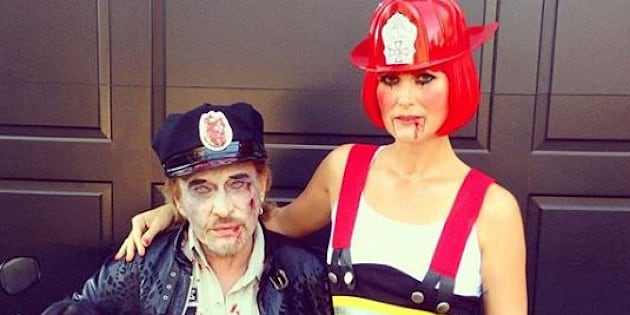 La famille Hallyday déguisée pour Halloween.