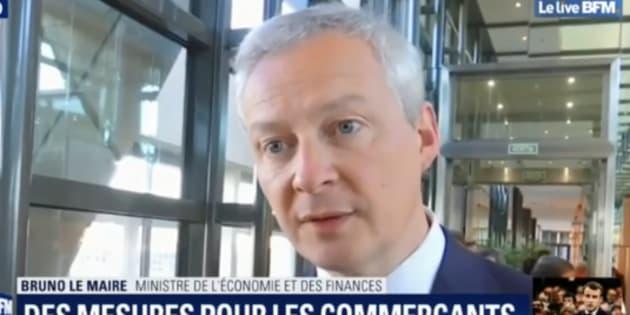 Bruno Le Maire a fait des annonces en direction des commerçants affectés par le mouvement des gilets jaunes.