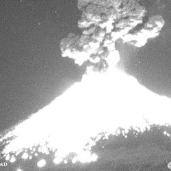 Volcán Popocatépetl registra fuerte