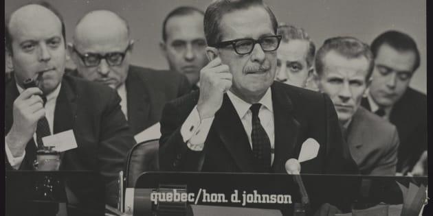 Le politicien Daniel Johnson père, Québec.