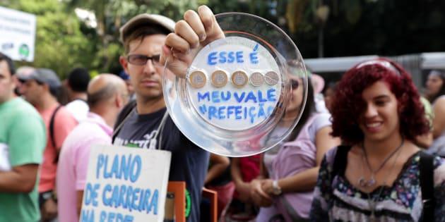 Protesto de professores do governo de São Paulo.