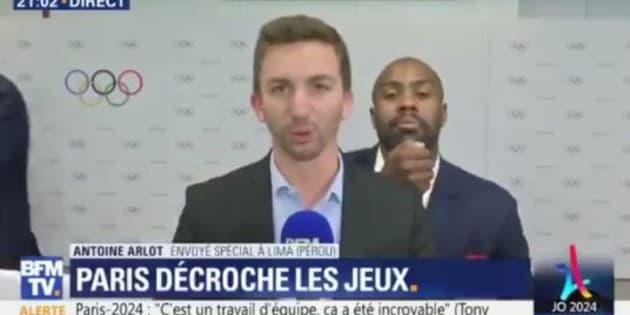 Paris 2024: Teddy Riner a bien perturbé le direct de BFMTV