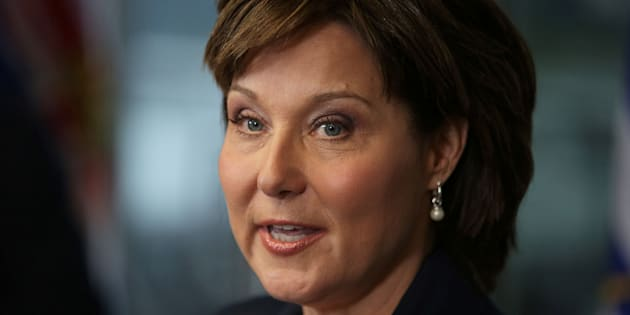 Christy Clark speaks to the media in Vancouver on May 30, 2017.