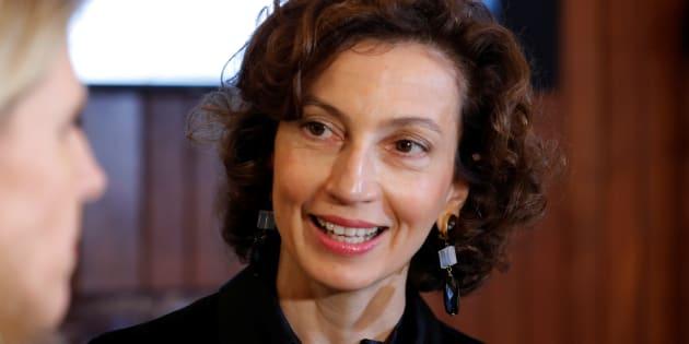 Audrey Azoulay au siège de l'Unesco à Paris, le 12 octobre.