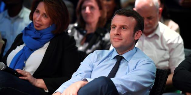 Emmanuel Macron à Saint-Denis le 30 mars 2017.