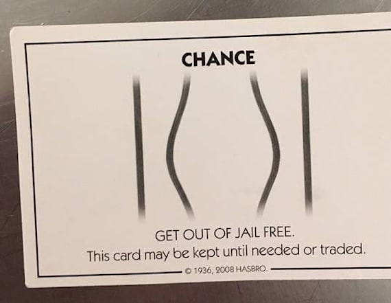 Man gives cop 'Get out of jail free' card