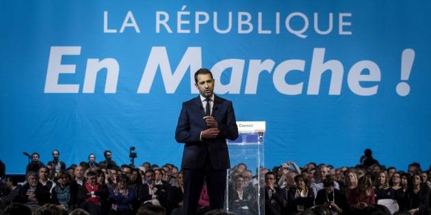 Christophe Castaner lors du congrès de LREM à Lyon le 18 novembre 2017.