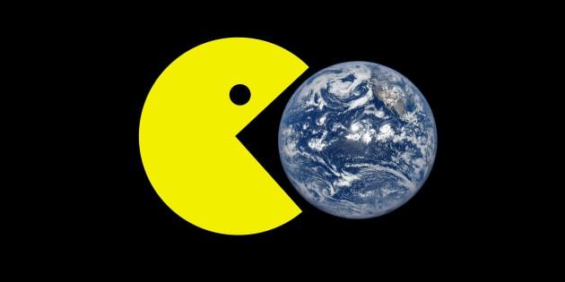 """La """"théorie"""" de la Terre plate s'explique grâce à Pac-Man, selon ces complotistes"""