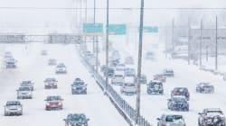 Vents, neige et froid paralysent le