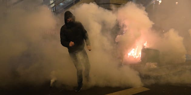 Manifestation à Paris le 15 février 2017 après l'arrestation de Théo à Bobigny. REUTERS/Christian Hartmann
