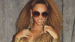 Beyoncé toute d'or vêtue pour assister au match des Brooklyn Nets avec