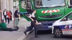 Spectaculaire arrestation de deux militants CGT qui avaient volé un camion poubelle pour une action