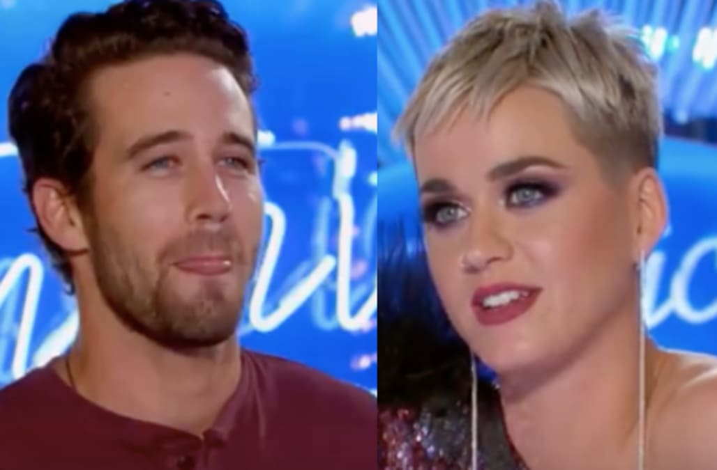 d35c3e8b75b3 Trevor Holmes from 'American Idol': Katy Perry's thirst is out of control  for cute contestant