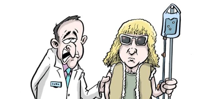 Que cache la maladie de Michel Polnareff? (dessin de presse)