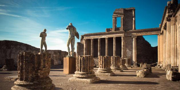 Rovine dell'antica città di Pompei, Italia.