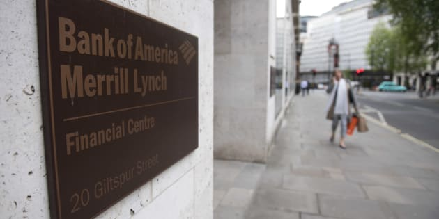 A view of offices of US investment bank Bank of America Merrill Lynch in London on May 5, 2017.