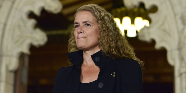 Governor General Designate Julie Payette takes part in a joint press conference with Prime Minister Justin Trudeau in Ottawa on July 13, 2017.