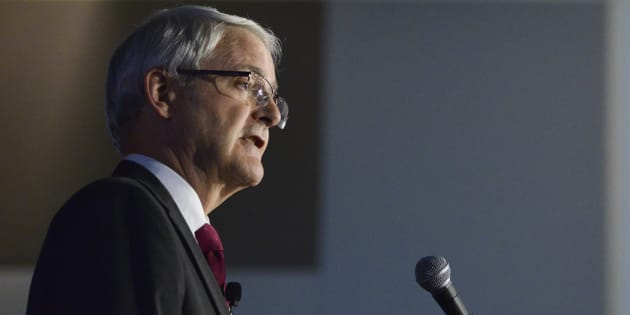 Transport Minister Marc Garneau shares remarks during a luncheon in Ottawa on July 4, 2017.