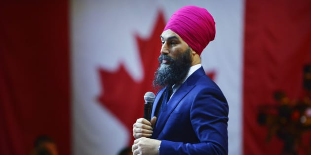 NDP Leader Jagmeet Singh shares remarks during the NDP Convention in Ottawa on Feb. 17, 2018.