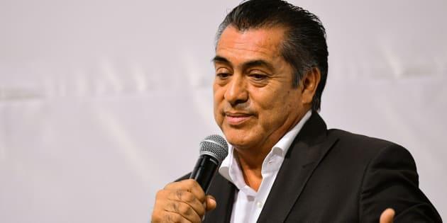 """Jaime Rodríguez Calderón durante la conferencia de """"Paz y Justicia en México""""."""