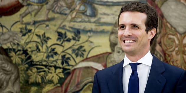 Pablo Casado, el pasado 25 de julio en el Palacio de la Zarzuela.