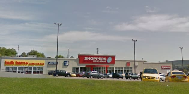 A Google Streetview image of the St. John's Shoppers Drug Mart that Christia Tizzard visited before helping a couple deliver a baby.