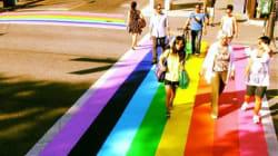 Les passages piétons multicolores, cette tendance en soutien à la communauté